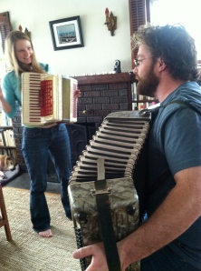 Accordion moments with my good friend Dee.