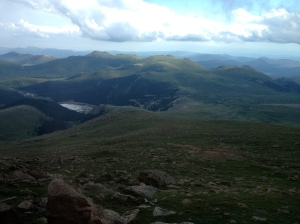 View from the way to the top of Pike's Peak.  Had some good friends from my time at Wesleyan out for a visit at the end of July.